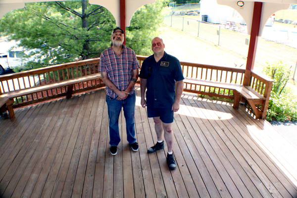 Gabe & Steve in gazebo