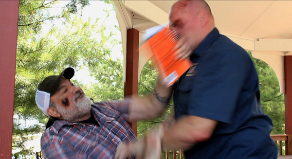 Gabe punches Steve